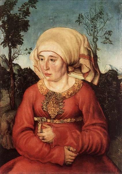 The elder portrait of frau reuss
